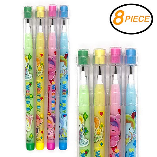 Emraw No 2 HB Fancy Pencils Multipoint Non-Sharpening Stackable Pencil with Matching Eraser (Pack of 16) - for Girls, Kids, Students, Teachers, Office -