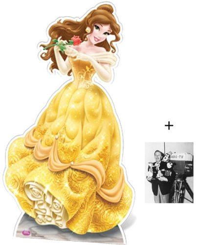 Fan Pack - Belle Disney Princess Lifesize Cardboard Cutout / Standee (Beauty and the Beast) - Includes 8x10 (20x25cm) Star -