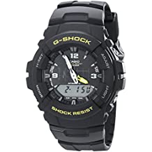 Casio Men's G-Shock G100-9CM Black Resin Sport Watch