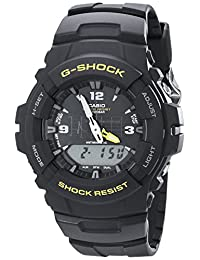 Casio G-Shock G100-9CM reloj deportivo de resina negra para hombre