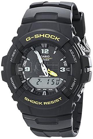 G-Shock G100-9CM Men's Black Resin Sport Watch (The Hundreds G Shock)