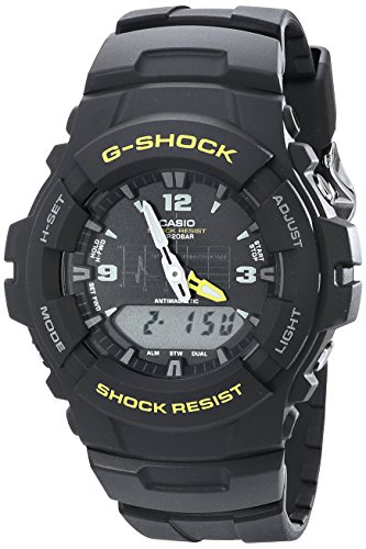 G Shock G100 9CM Black Resin Sport
