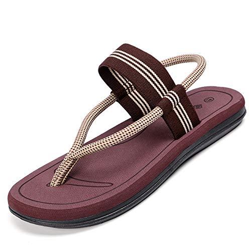 libero all'aperto Brown per chiuso da il uomo e Sandali toe Xiaoqin open casual scarpe adatti al per tempo qzaR6pwT67