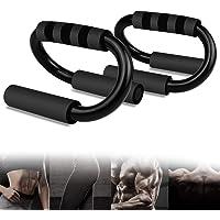 AmzKoi Push-up Bar Fitness van staal met schuimrubberen handgrepen voor krachttraining en calisthenics