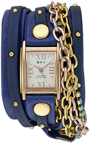 La Mer Collections Women's WANDERLUST00300 Analog Display Japanese Quartz Blue Watch