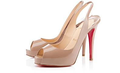 Lady Peep Sling Women s 120 mm Peep Toe Sandals Breathable Nude ... f639bcba00