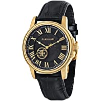 Thomas Earnshaw Men's 'Beagle' Swiss Automatic Stainless Steel and Leather Dress Watch, Color:Black (Model: ES-0028-07)