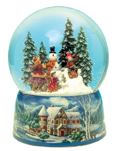 Snowman Snowglobe Christmas Figurine - Musicbox Kingdom 48039 Snowman Snow Globe Music Box, Plays The Melody Leise Rieselt der Schnee