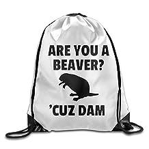 Are You A Beaver,Cuz Dam Athletic Tote Hiking Drawstring Bag