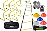 Sports Agility Training Adjustable Agility-hurdles-ladder-chute-cones Combo Set