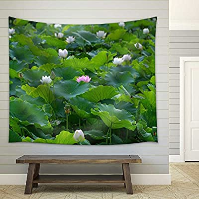 Lotus Fabric Wall, Professional Creation, Gorgeous Piece of Art