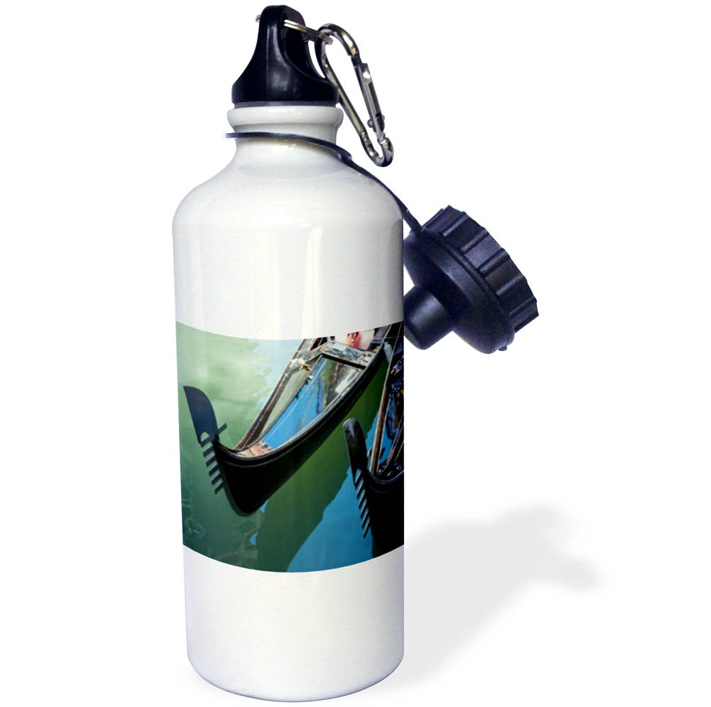3dRose Danita Delimont - Boats - Italy, Venice. Two gondolas and reflections in a canal. - 21 oz Sports Water Bottle (wb_277575_1)