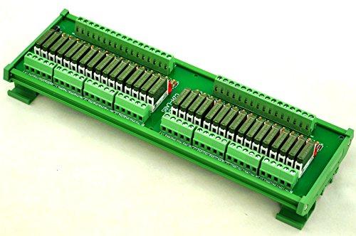 ELECTRONICS-SALON Slim DIN Rail Mount DC12V Source/PNP 32 SPST-NO 5A Power Relay Module, PA1a-12V by CZH-LABS (Image #1)