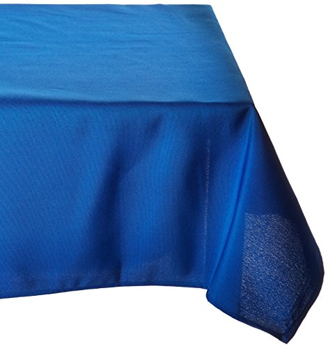 LinenTablecloth 60 x 126-Inch Rectangular Polyester Tablecloth Royal (Blue Table Cloth)
