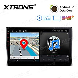Sale Off XTRONS Android 8.1 Oreo Octa Core 10.1 Inch 2GB DDR3 RAM 16GB ROM Rotatable Face Panel Car Stereo DVD Radio GPS 4K Video WiFi OBD2 Screen Mirroring DVR 2 DIN