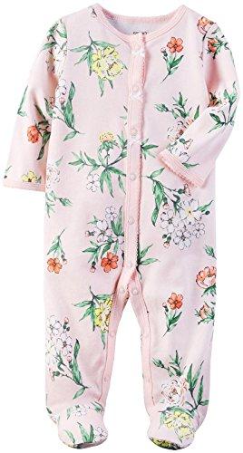 Carter's Baby Girls' Interlock 115g213, Pink, 6M (Preemie Pajamas)
