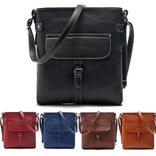 Handbag Ladies Bag Leather Messenger Black Familizo Shoulder Handbag Cross Satchel Body TT4rRO5wq