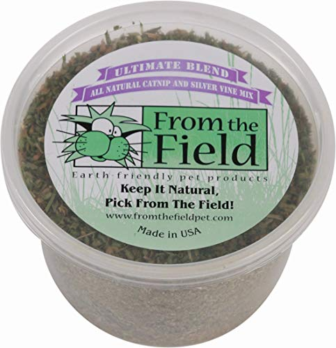 From The Field Ultimate Blend Silver Vine/Catnip Mix Tub, 2 oz/Medium ()