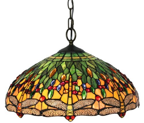 Dragonfly Tiffany Style Pendant Light Fixture in US - 1