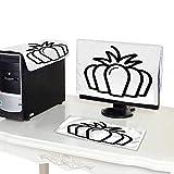 Miki Da CPU Cover Computer dust 19''MonitorSet Pumpkin Vector Icon Outline Illustration Isolated