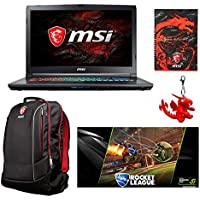 MSI GP72X Leopard Pro-622 17.3 Gaming Laptop - Intel Core i7-7700HQ, GTX1050TI, 16GB DDR4, 256GB NVMe SSD +1TB, Win10, VR Ready + Gaming Bundle