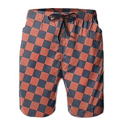 Discount OPDDBB Concise Red Tartan Plaid Board Shorts Swimwear Shorts With Pockets For Men supplier