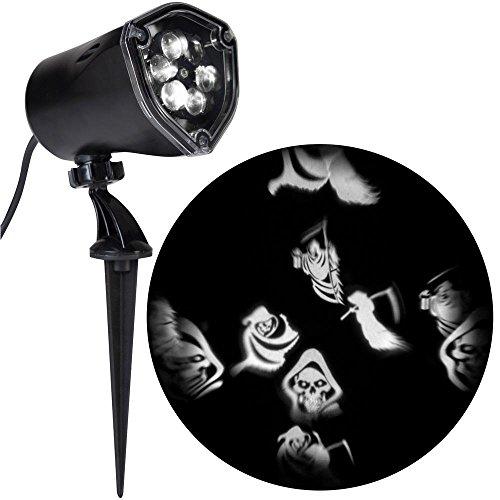 Strobing LightShow LED Halloween Chasing White Reapers Strobe Spotlight Whirl-a-Motion