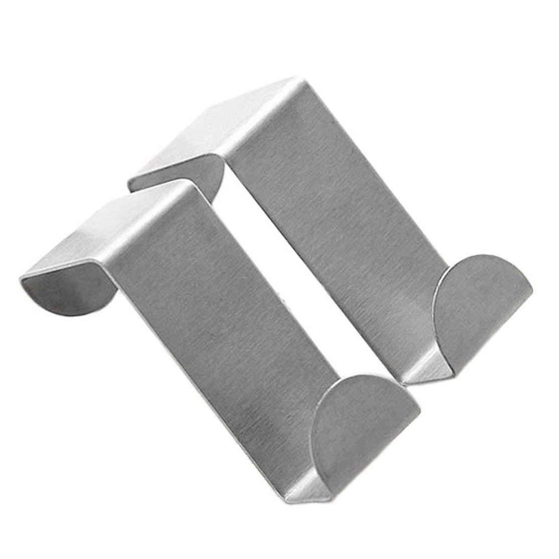 LouiseEvel215 Ganci Porta in Acciaio Inox Appeso Armadio da Cucina Appendiabiti sulla Porta Posteriore Tipo Forte pratici Accessori per la casa