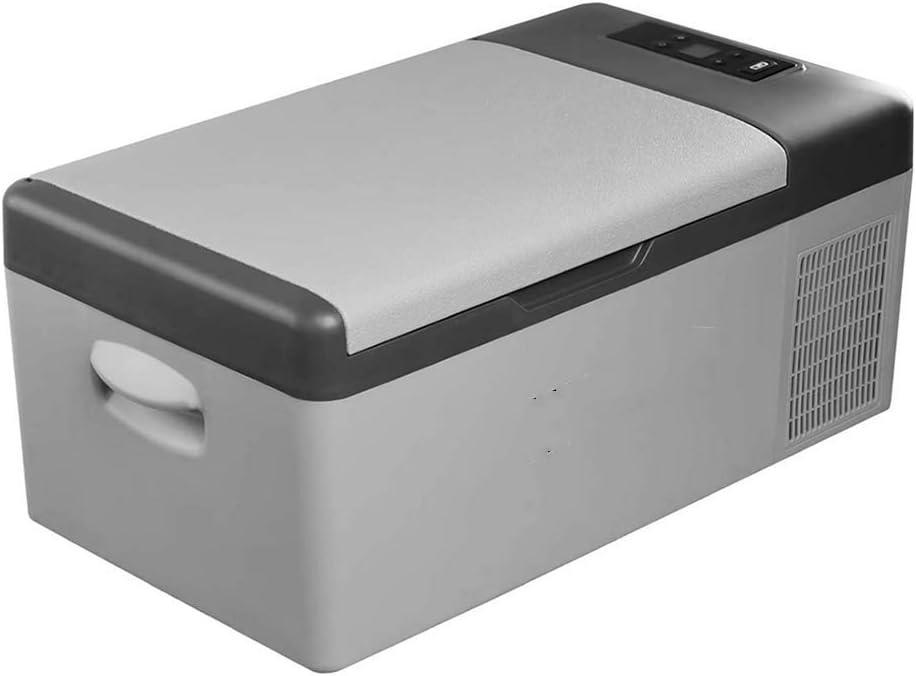 Neveras portátiles Mini Coche Compresor Refrigerador Congelador 15L 573226cm 12 / 24V, para Acampar Paseos en Bar Caravana Bar.
