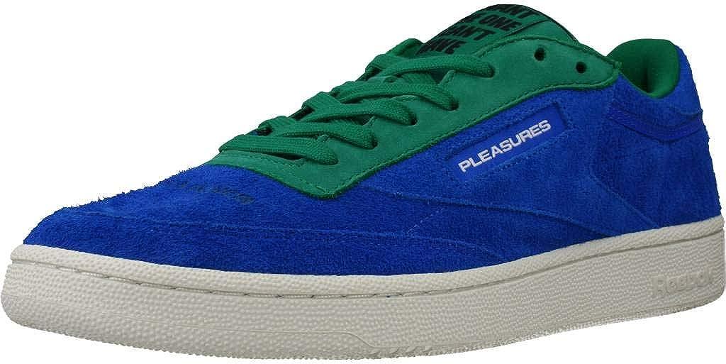 Reebok Herren Sportschuhe Club C 85 Pleasures Blau Bluegreen