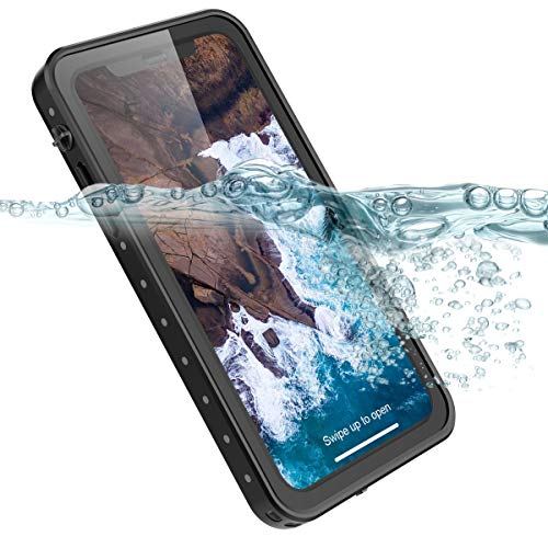 iPhone Xs Max Waterproof Case, IP68 Certified 360 Degree Protection Full Sealed Dustproof Shockproof Underwater Protective Case with Screen Protector for iPhone Xs Max 6.5