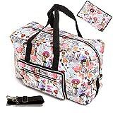 Large Foldable Travel Duffel Bag 50L Oversized Floral Travel Tote Hospital Bag Handbag Shoulder Weekender Overnight Carry On Bag Checked Luggage Bag For Women Men Girls Kids,Waterproof (painting girl)