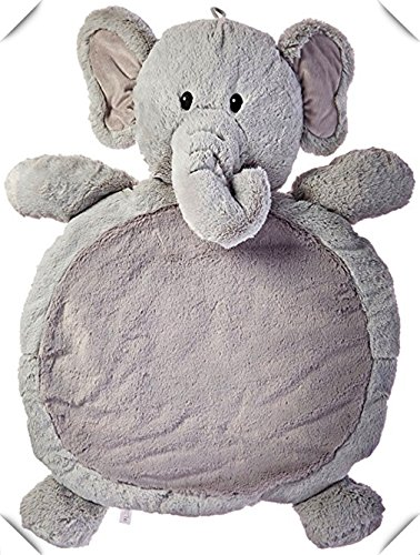 Tmrow Grey Elephant Baby Mat Animal Children Play Mat Photography Baby Nap Mats Belly Blanket Toddler Crawl Playmat Elephant 31 x 23-inches