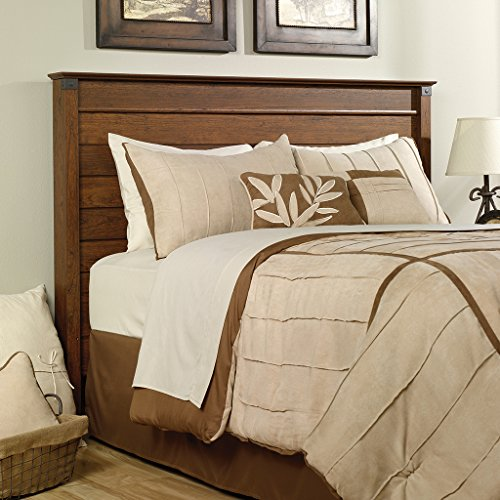 Sauder Carson Forge Panel Headboard, Full/Queen, Washington Cherry Finish - Finished Panel Bed