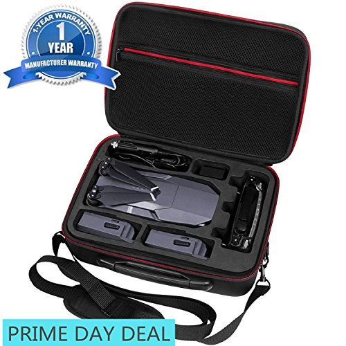 Upgraded DJI Mavic pro Case - waterproof | Durable | Compact | Portable Travel Hardshell Shoulder Bag Backpack Hardshell Suitcase by Oukey (Shoulder Case for (Remote Controlled Rc Airline Plane)