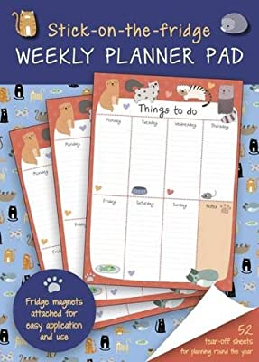 Stick-on-the-Fridge Weekly Planner Pad: Cute Cats: 52 Tear-Off Sheets for Planning Round the Year