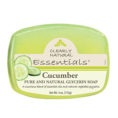 Clearly Natural Glycerin Bar Soap, Cucumber, 4 - Soap Clearly Bar Natural Moisturizing