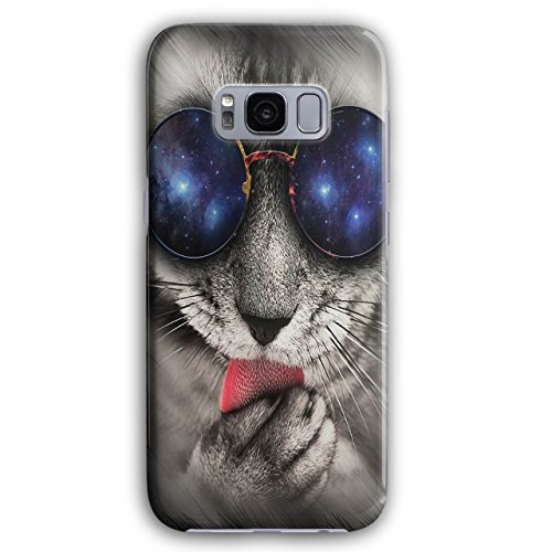 Space Sunglasses Cute Cat Cute Paw 3D Samsung Galaxy S8 Case | - Ridiculous Sunglasses