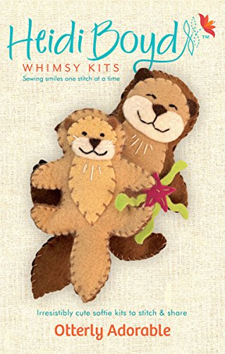 Heidi Boyd | Otterly Adorable | Whimsy Kits | Enjoy Creating Two Adorable Otter Friends with This All Inclusive Felt Craft Sewing Kit Age 13+