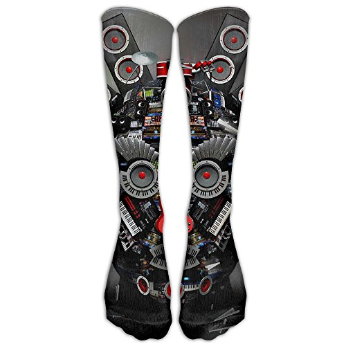 Cool Abstract Music Socks For Man&women Boots Socks Winter High Graduated Compression Sox,for Running & Fitness&Yoga Indoor - Shade And Definition Tint