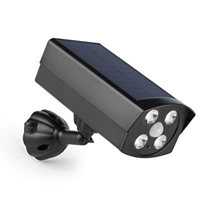 Luz Solar Garden Street LED Sensor De Movimiento Inteligente Al Aire Libre Luz Pseudo Monitor Lámpara