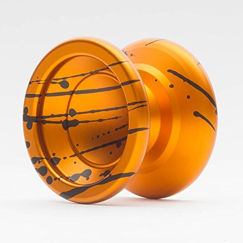 Paul Kerbel Horizon Splash Yoyo Color Orange and Black Splash by YoYoFactory by YoYoFactory Horizon