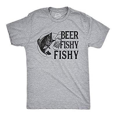 Crazy Dog T-Shirts Mens Beer Fishy Fishy Tshirt Funny Fishing Drinking Tee