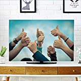 Philiphome Protect Your TV College Students with Thumbs up Protect Your TV W19 x H30 INCH/TV 32''