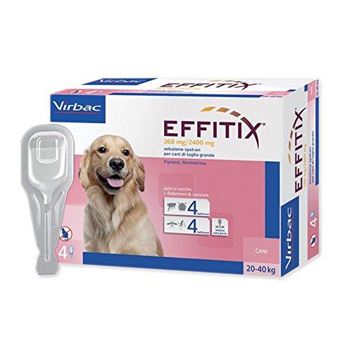 5 opinioni per EFFITIX LARGE (20-40 kg)- Efficace antiparassitario per cani contro pulci,