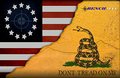 Don't Tread On Me Gadsden Colonial American Flag Gun Cleaning Mat by Bench Mat