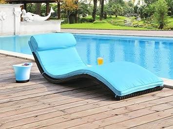 Bain de soleil JANEIRO en résine tressée wengué - assise ...