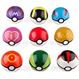 Lsxszz8 9 Ball Pocket Monsters Master Super GS Pocket Monsters + 24 Action Figures Role Play pop-up Ball Children's Toys (7cm, Random Color)