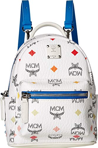 MCM Womens Stark Spektrum Visetos Backpack 20 Spectrum Diamond White One Size