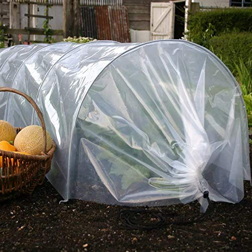 TYLife Plant Cover Garden Plant Tunnel Cloche with Hoop for Seedling&Plants Growing,Frost Protection, Harsh Weather Resistance& Seed Germination,10' Long x 18